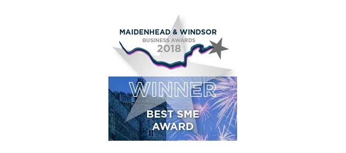 Winner Best SME Maidenhead and Windsor Business Awards 2018