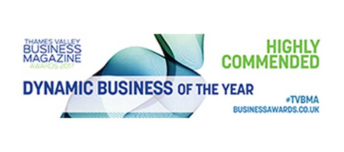 Thames Valley Business Magazine Awards 2017 High Commended Dynamic Business of the Year.