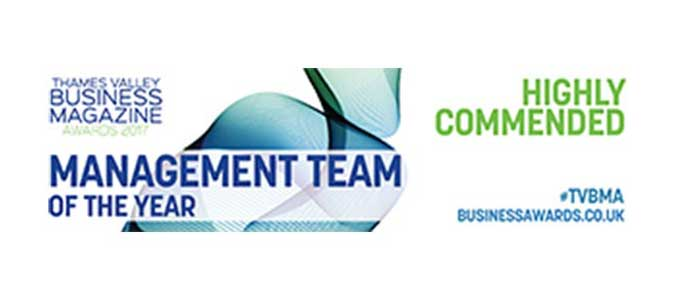 Highly Commended - Management Team of the Year Thames Valley Business Magazine Awards 2017