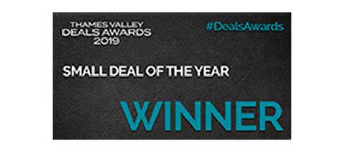 Thames Valley Deals Award 2019 Small Deal of the Year Winner.