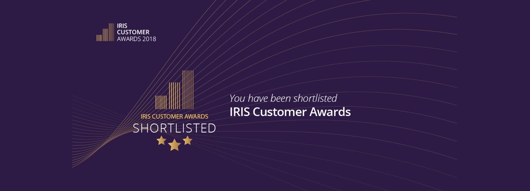 IRIS Customer Awards Shortlist Banner.